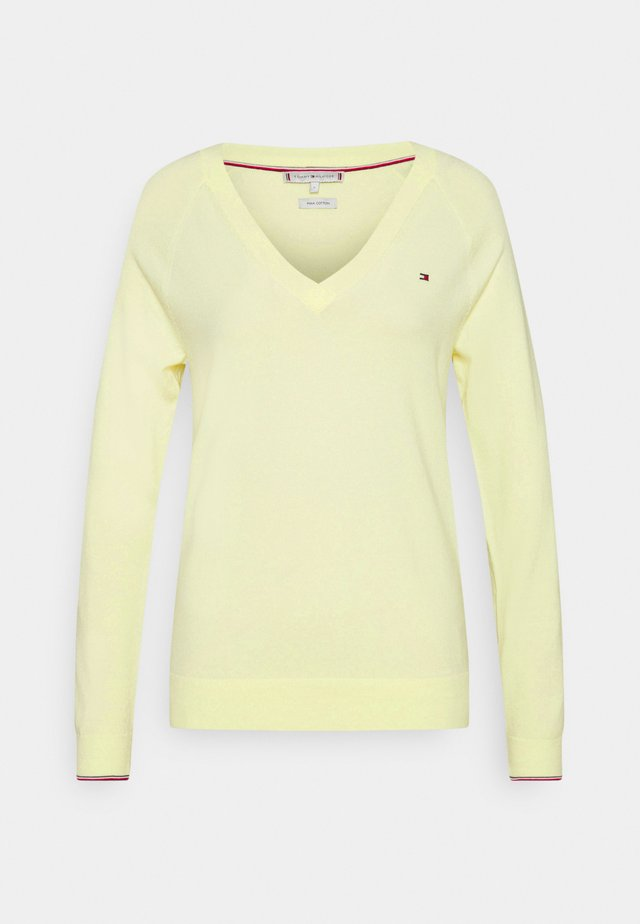 VNECK - Sweter - frosted lemon