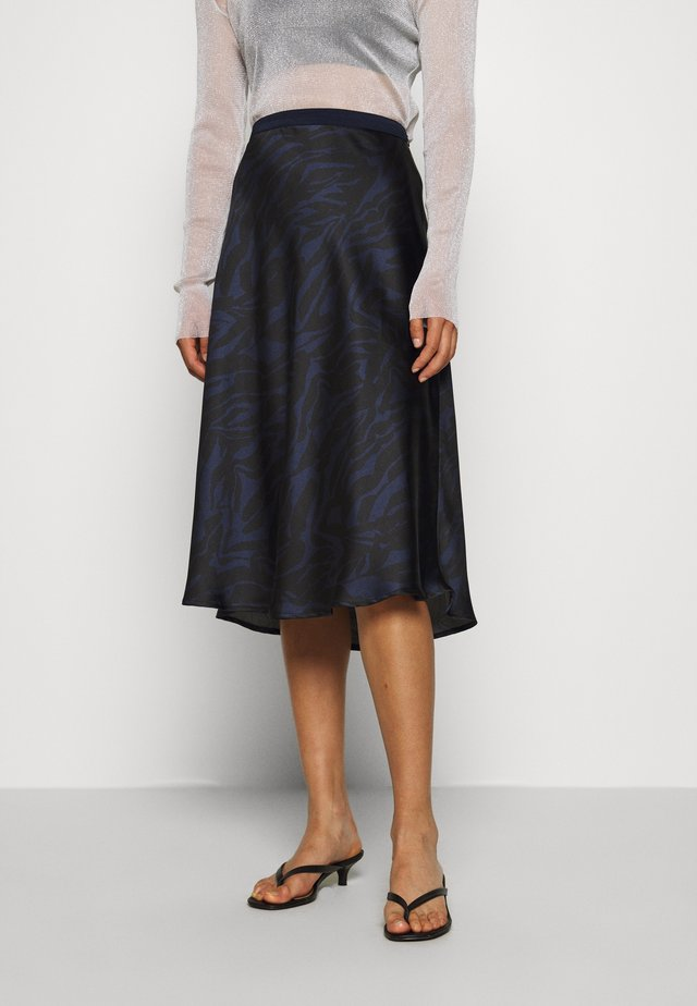 SLEDESSA SKIRT - A-linjainen hame - shadow/dark blue