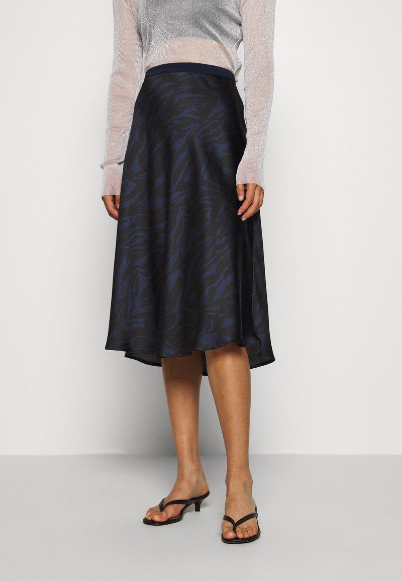 Soaked in Luxury - SLEDESSA SKIRT - A-line skirt - shadow/dark blue
