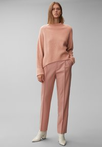 Marc O'Polo PURE - BOXY LONG SLEEVE RAGLAN CROPPED LENGTH - Jumper - winter rose - 1