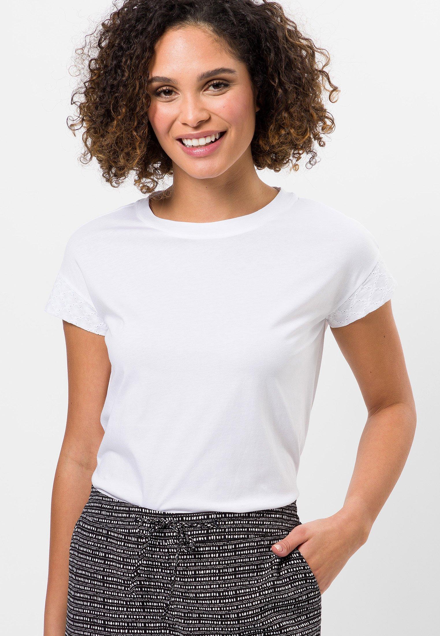 Damen MIT LOCHSPITZE - T-Shirt print