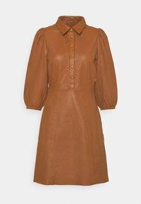 YAS - YASRUVENDA DRESS ICON - Shirt dress - tortoise shell - 0