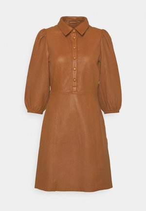 YASRUVENDA DRESS ICON - Shirt dress - tortoise shell