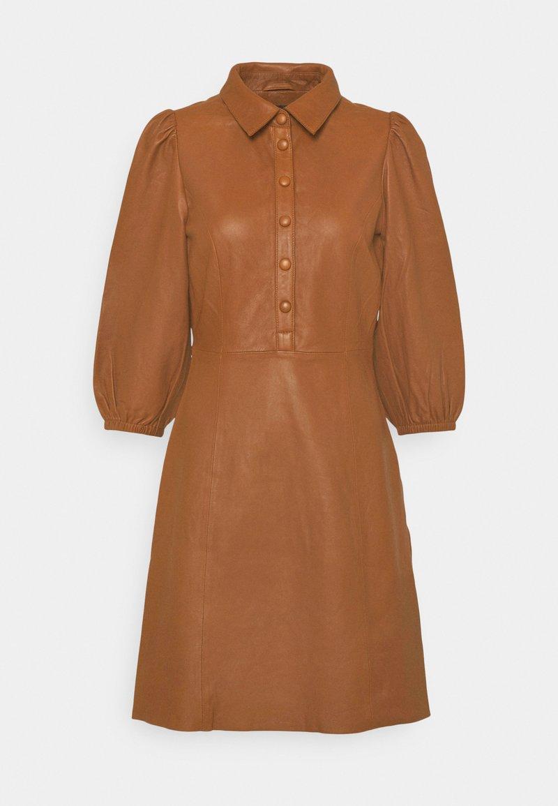 YAS - YASRUVENDA DRESS ICON - Shirt dress - tortoise shell