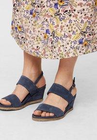 Bianco - Wedge sandals - navyblue - 0