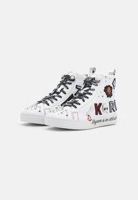 KARL LAGERFELD - SKOOL BADGE - Sneaker high - white - 2