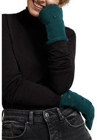 edc by Esprit - Fingerless gloves - dark teal green - 1