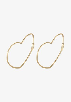 HEART HOOP EARRINGS - Øredobber - gold-coloured