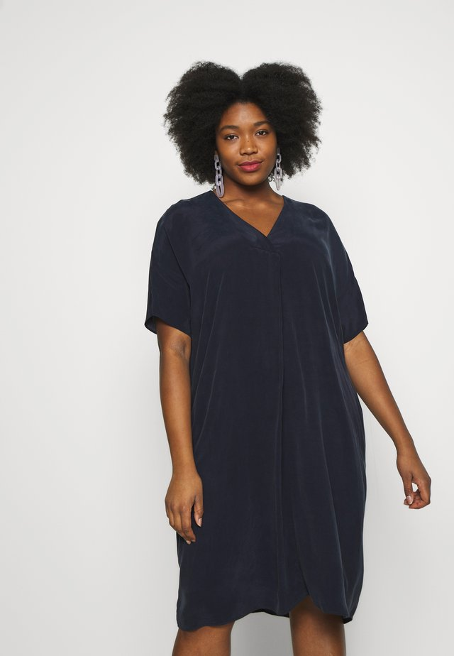 AMARA COCOON DRESS - Sukienka letnia - navy