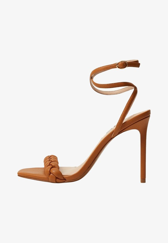 TREN - Sandalen met hoge hak - marron moyen