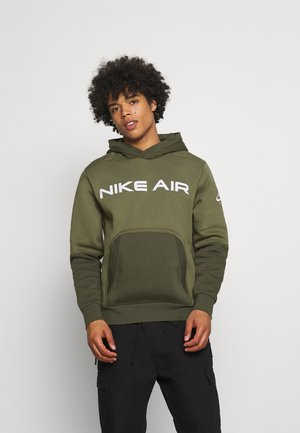 AIR HOODIE - Hoodie - medium olive/cargo khaki/white