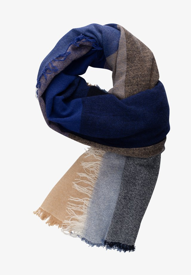 Scarf - blau beige