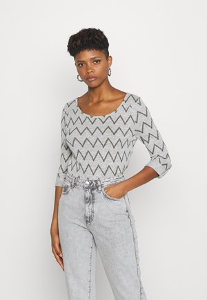 ONLJESS NEW - Strickpullover - light grey melange