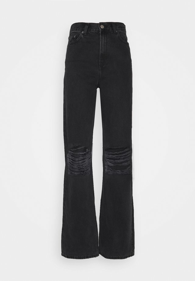 ECHO - Jeans bootcut - concrete black ripped