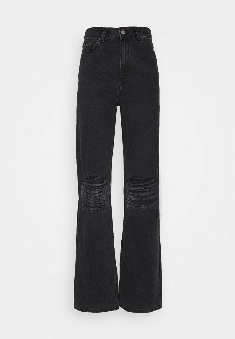 Dr.Denim Tall - ECHO - Jeans bootcut - concrete black ripped