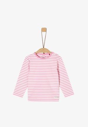 MIT STREIFEN - Long sleeved top - light pink stripes