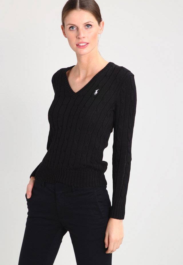 KIMBERLY - Strickpullover - polo black