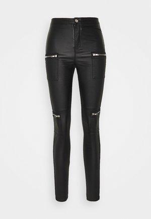 VICE HIGHWAISTED ZIP - Pantalones - black