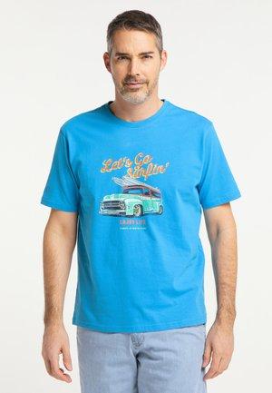 T-shirt print - strongblue