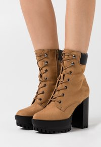 Even&Odd - High heeled ankle boots - sand - 0