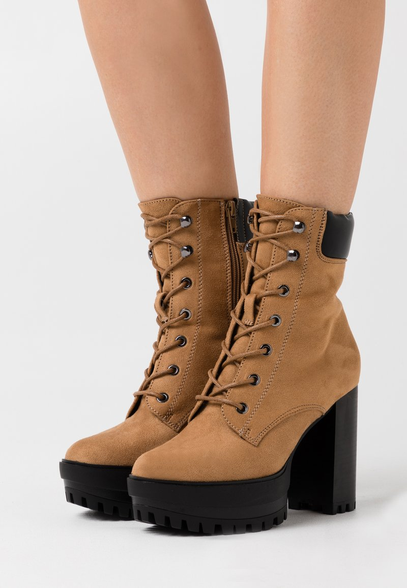 Even&Odd - High heeled ankle boots - sand