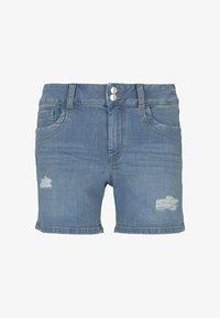 TOM TAILOR DENIM - CAJSA - Denim shorts - used light stone blue denim - 6