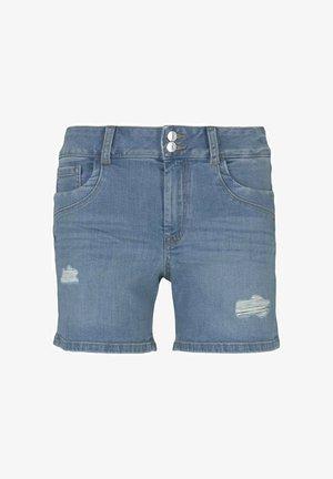 CAJSA - Denim shorts - used light stone blue denim
