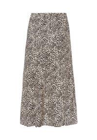 Olsen - MIT LEOPARDENPRINT - A-line skirt - black, beige - 4
