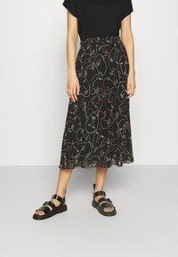 Monki - A-line skirt - black dark - 0