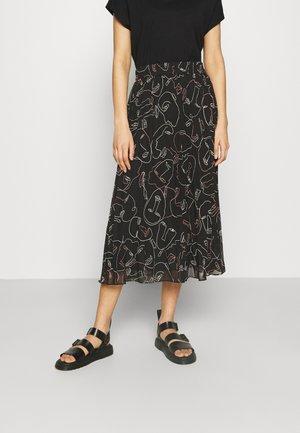 Áčková sukně - black dark