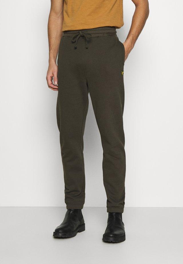 DOUBLE BRUSH TRACK PANT - Teplákové kalhoty - trek green
