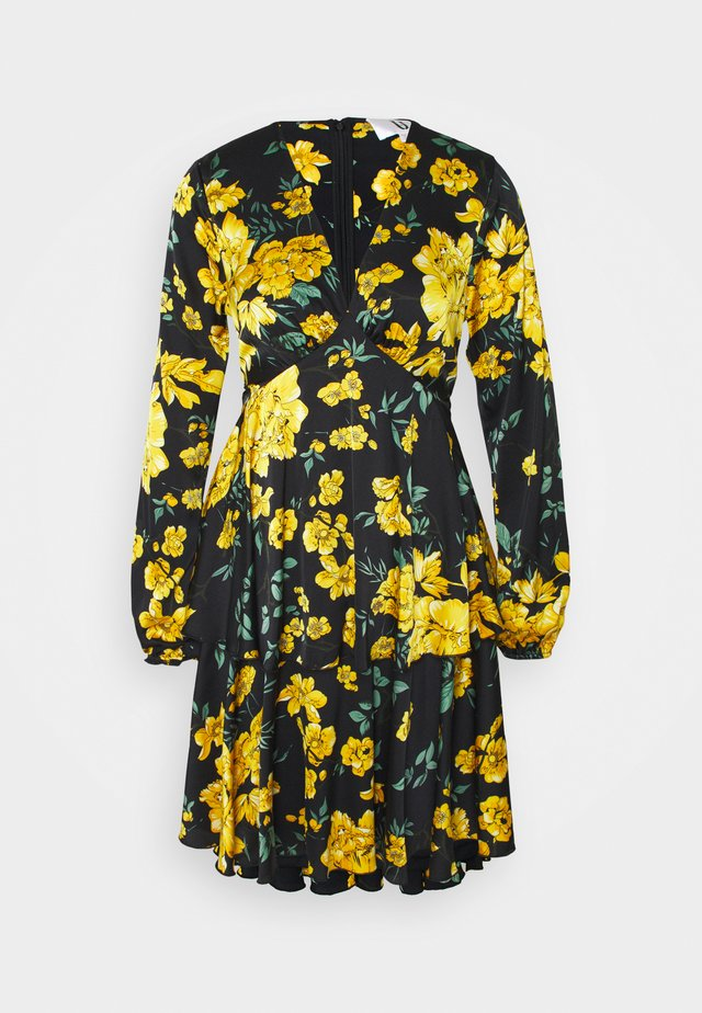 Robe d'été - black/yellow