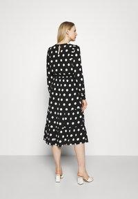Marks & Spencer London - SPOT VOLUME MIDI - Day dress - black - 2