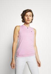 Peak Performance - TURF ZIP  - Polo shirt - statice lilac - 0