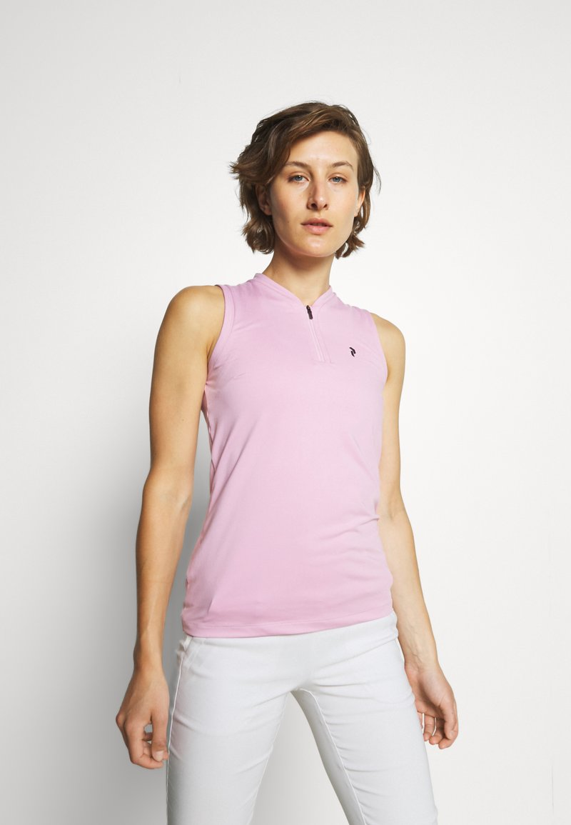 Peak Performance - TURF ZIP  - Polo shirt - statice lilac
