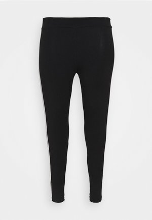 SIDE STRIPE LEGGING - Leggings - black