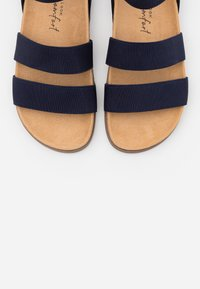 New Look Wide Fit - WIDE FIT HILLY - Sandales - navy - 5