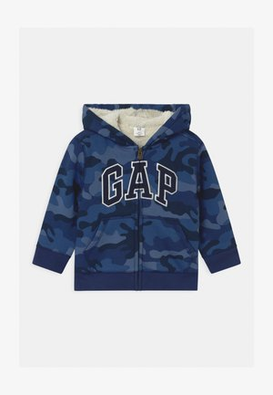 TODDLER BOY COZY LOGO - veste en sweat zippée - blue