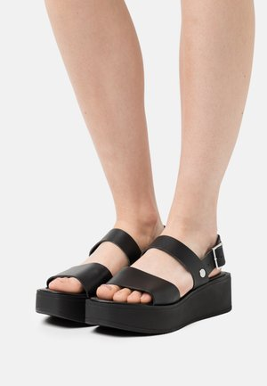 DEBALMY - Sandały na platformie - noir