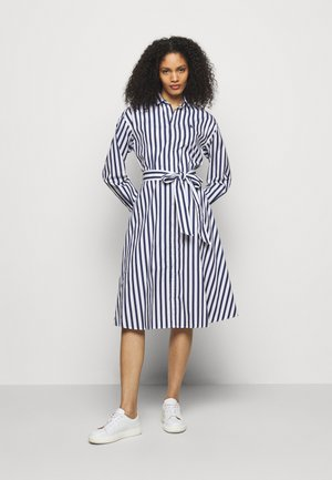 Shirt dress - navy/white