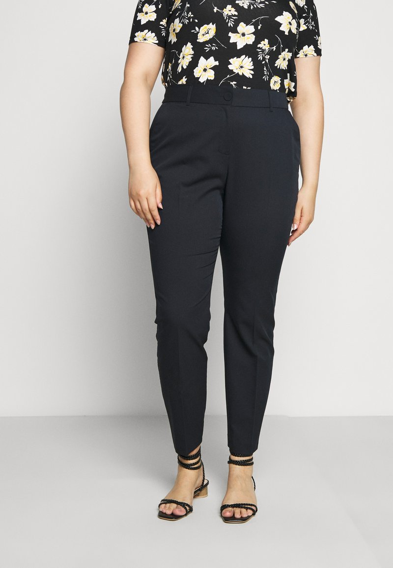 Evans - BUTTON TAPERED TROUSER - Trousers - navy