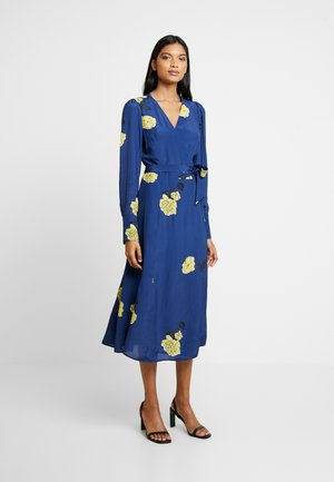 WRAP DRESS MIDI - Day dress - blue