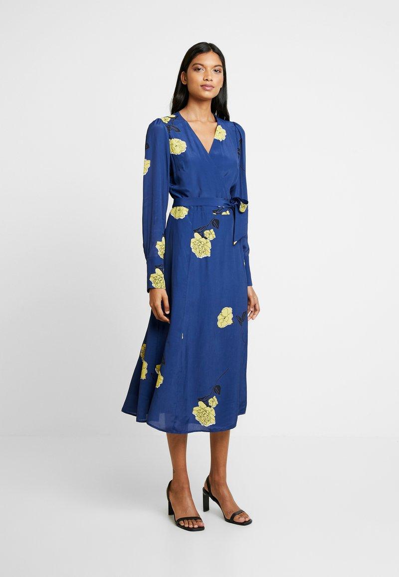 IVY & OAK - WRAP DRESS MIDI - Korte jurk - blue