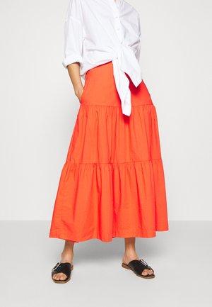 TIERD SKIRT - Pleated skirt - coral