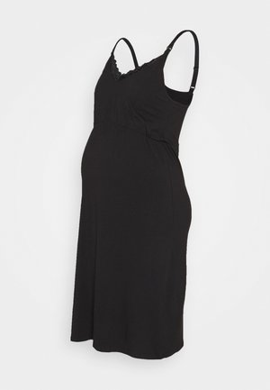 MLAMRA NIGHTGOWN - Nattskjorte - black