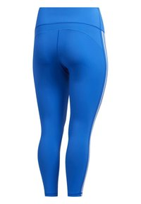 adidas Performance - BELIEVE THIS 3-STRIPES 7/8 LEGGINGS (PLUS SIZE) - Legging - blue - 9