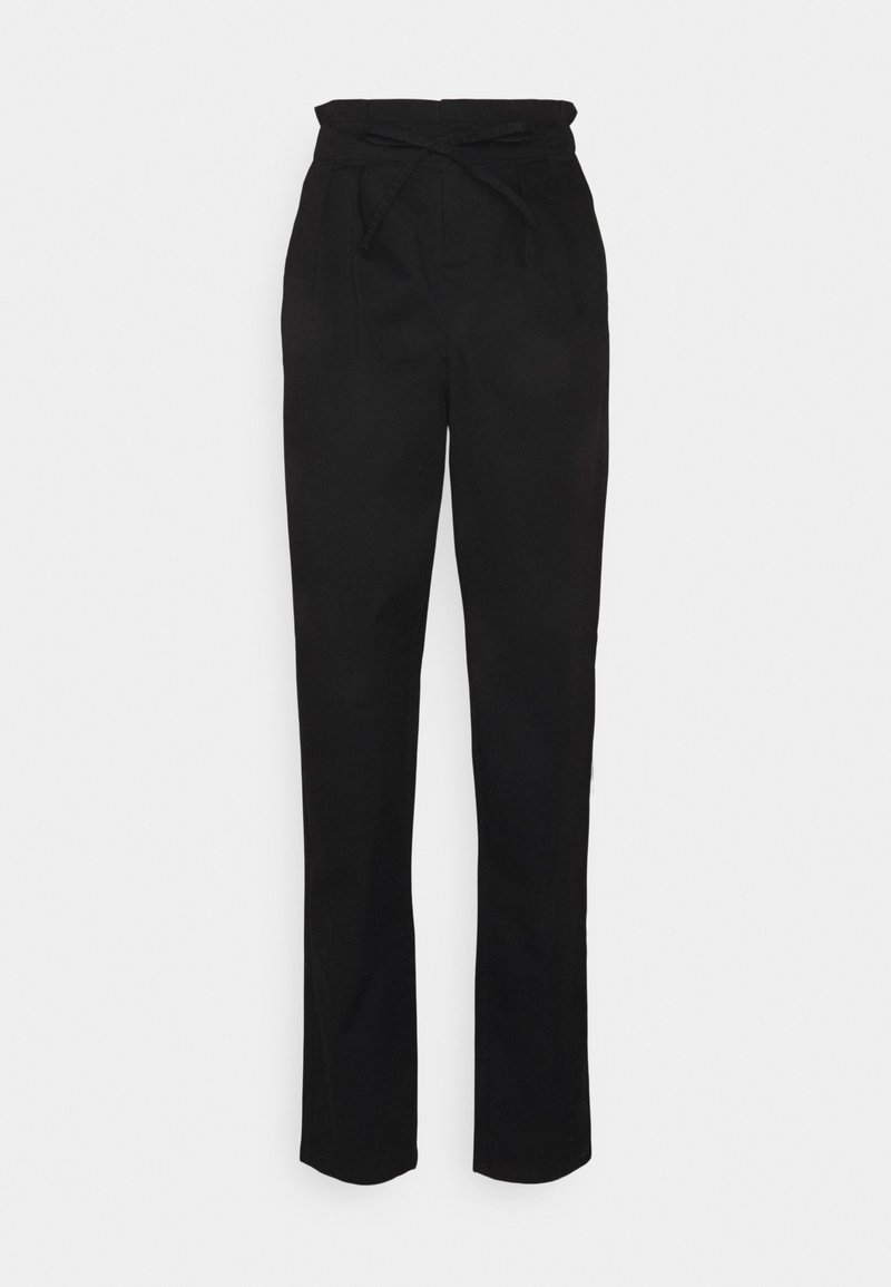 Vero Moda Tall - VMEVANY STRING ANKLE PANT - Trousers - black