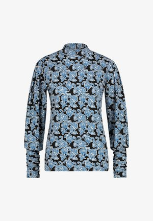 Long sleeved top - saphire blue dessin