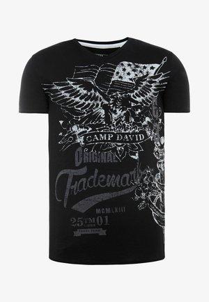 MIT VINTAGE PRINT - Print T-shirt - black