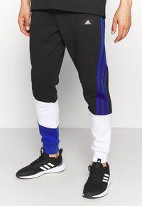 adidas Performance - COLORBLOCK SEASONAL - Pantaloni sportivi - black/bold blue - 4